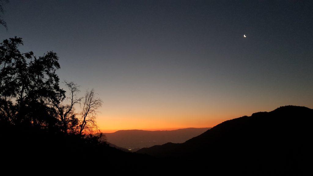 Santiago Chile Cerro Manquehue sunset